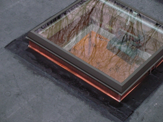 AZ Best EPDM roofing system w copper skylight Weston CT
