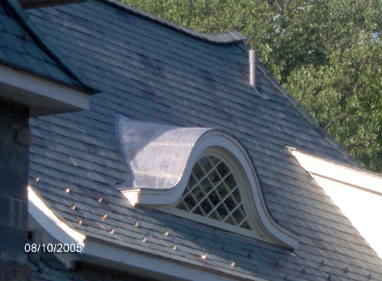 az best roofing flat seam lead coated  copper dormer NJ roofing