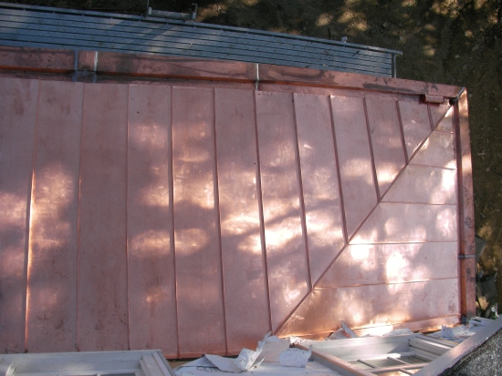 az best copper standing seam roofing and yenkee gutter greenwich ct